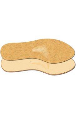 fussgut inlegzolen slim-comfort-inlay met spreidvoeten-voorvoetverhoging beige