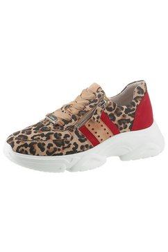 gabor sneakers met sleehak bruin