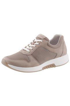 gabor rollingsoft sneakers met sleehak beige