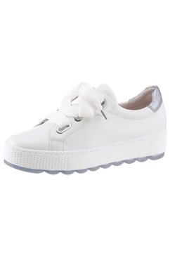 gabor sneakers met plateauzool wit
