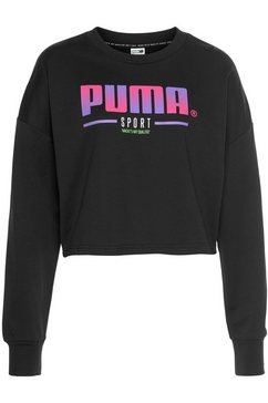 puma sweatshirt »puma sport crew sweat« zwart