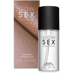 bijoux indiscrets »warming massage oil- slow sex« glij-  massageolie wit