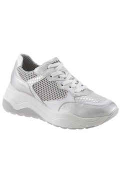 igi  co sneakers met sleehak zilver