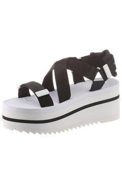 tommy jeans sandaaltjes »pop color flatform sandal« zwart