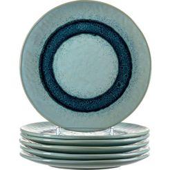 leonardo ontbijtbordje matera keramiek, ø 23 cm (set, 6 stuks) blauw