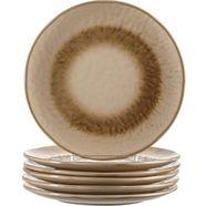 leonardo ontbijtbordje matera keramiek, ø 23 cm (set, 6 stuks) beige