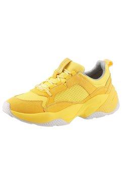 marc o'polo sneakers met sleehak geel