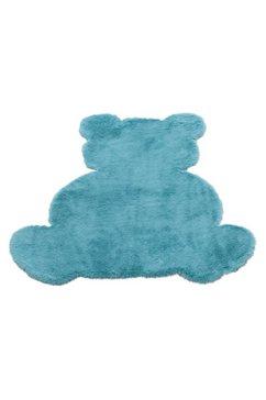 luettenhuett vloerkleed voor de kinderkamer imitatiebont blauw