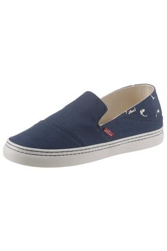 levi's slip-on sneakers blauw