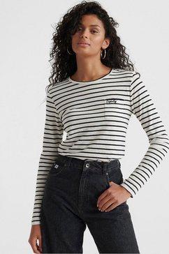 superdry shirt met lange mouwen »ol essential ls top« wit