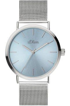 s.oliver kwartshorloge »so-3884-mq« zilver
