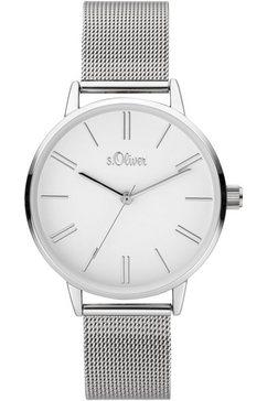 s.oliver kwartshorloge »so-3892-mq« zilver