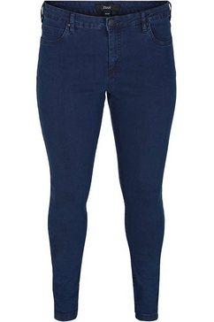zizzi slim fit jeans amy van katoen-stretch blauw