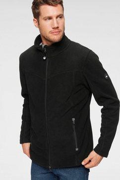 polarino fleece-jasje met staande kraag zwart