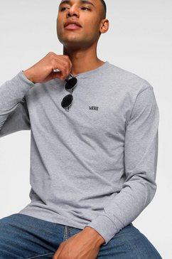 vans shirt met lange mouwen »left chest hit ls« grijs