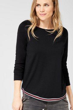 cecil shirt met ronde hals zwart