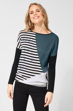 cecil shirt met ronde hals groen