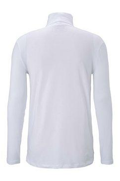 tom tailor denim shirt met lange mouwen »langarmshirt mit turtleneck« wit