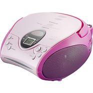 lenco fm-radio scd-24 met cd stereo roze