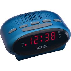 lenco wekkerradio »ices icr-210 blauw