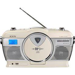 lenco retro-radio »iscd-33« (fm-tuner) wit