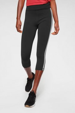 adidas performance functionele tights »pulse 3-4 regular rise 3 stripes« zwart