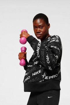 nike sweatshirt »nike pro women's fleece crew« zwart