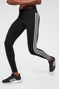 adidas performance functionele tights »pulse long regular rise 3 stripes tight« zwart