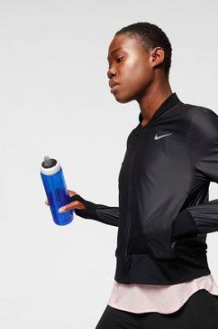 nike runningjack »nike women's full-zip running jacket« zwart