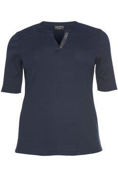 via appia due shirt met v-hals blauw
