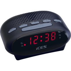 lenco wekkerradio »ices icr-210 zwart