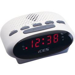 lenco wekkerradio »ices icr-210 wit