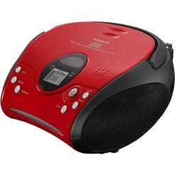 lenco fm-radio scd-24 met cd stereo rood
