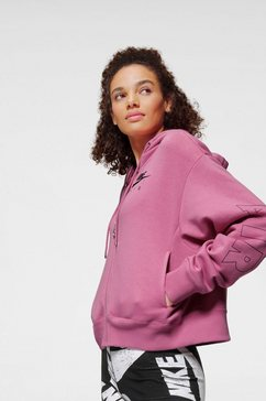 nike sportswear capuchonsweatvest »nike air women's full-zip fleece hoodie« roze
