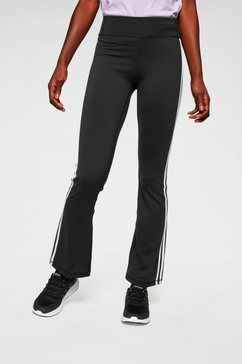 adidas performance jazzpants »brushed 3 stripes bootcut« zwart
