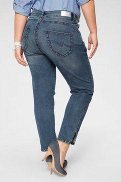 purple lily skinny fit jeans »lilie« blauw