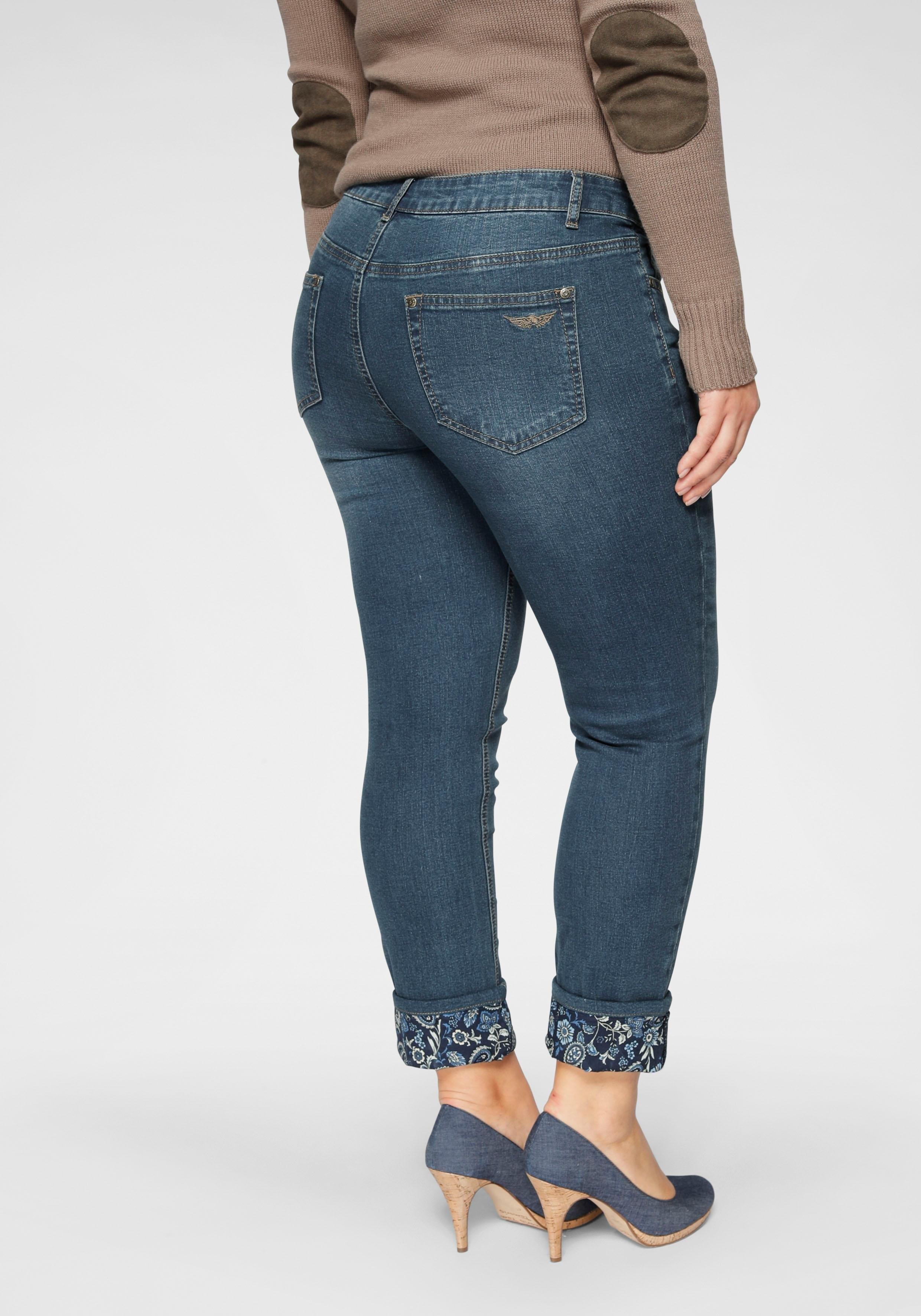 ARIZONA 7/8 jeans »Turn - Up mit floralem Print« - verschillende betaalmethodes
