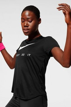nike runningshirt »nike women's short-sleeve running top« zwart