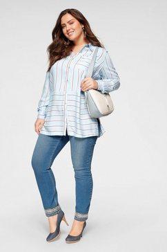 junarose slim fit jeans »five« blauw