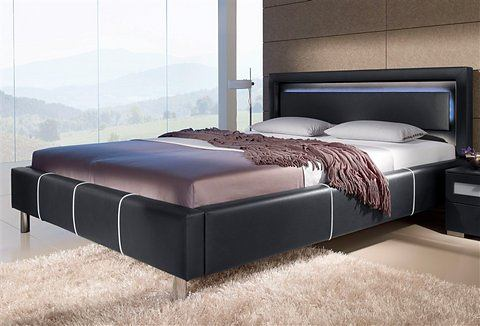 Bed zelfmontage zwart Hapo 891847