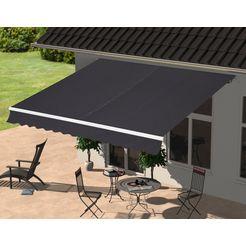 konifera zonnescherm met knikarm breedte-uitval: 300-250 cm grijs