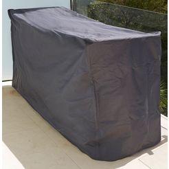 konifera beschermhoes »florenz - korsika«, gartenmoebelset, (l-b-h) 184x63x94 cm grijs