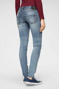 herrlicher slim fit jeans »piper slim« blauw