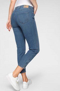 toni ankle jeans »zip-slim« blauw