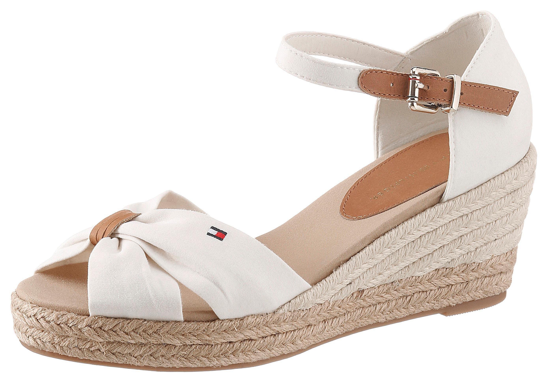 Tommy Hilfiger sandaaltjes »BASIC OPENED TOE MID WEDGE« goedkoop op otto.nl kopen