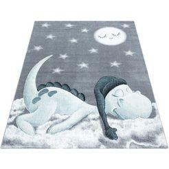 ayyildiz teppiche vloerkleed voor de kinderkamer bambi 840 draakmotief, laagpolig blauw