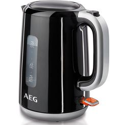 aeg waterkoker, perfect morning ewa 3700, 1,7 liter, 3000 watt zwart