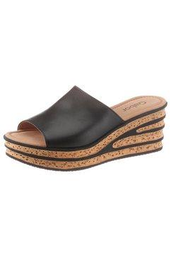 gabor slippers met aantrekkelijke hak zwart