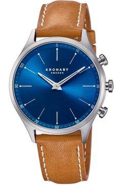 kronaby smartwatch »sekel, s3124-1« bruin