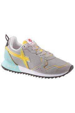 w6yz sneakers met sleehak grijs